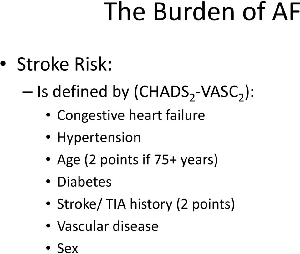 Hypertension Age (2 points if 75+ years)