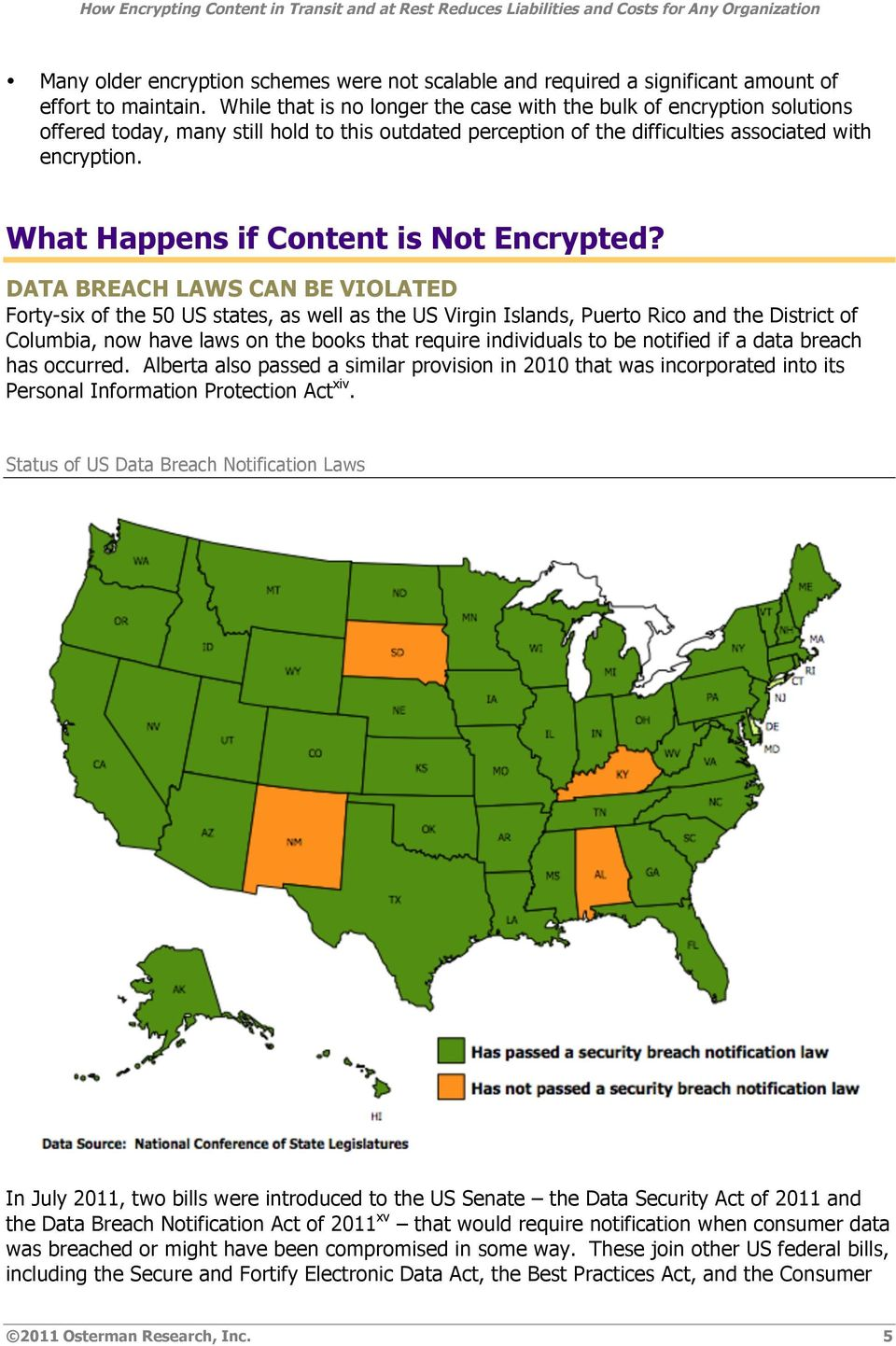 What Happens if Cntent is Nt Encrypted?