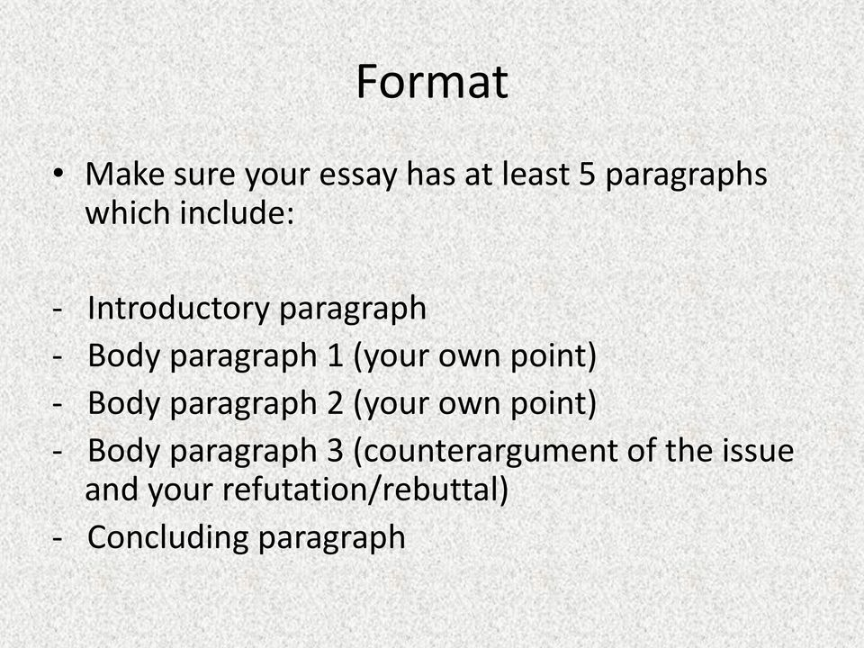 How to write a refutal essay