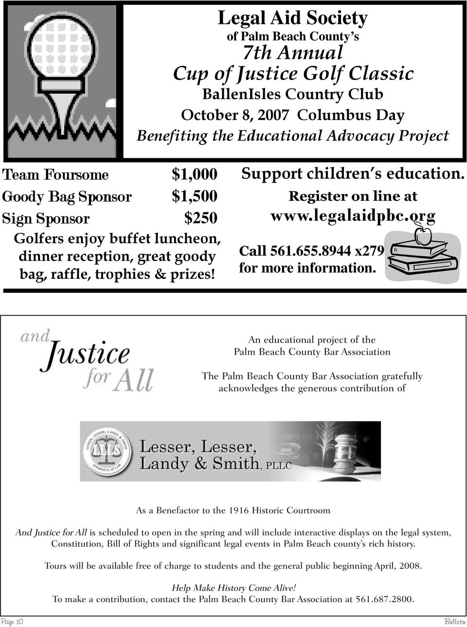 legalaidpbc.org Call 561.655.8944 x279 for more information.