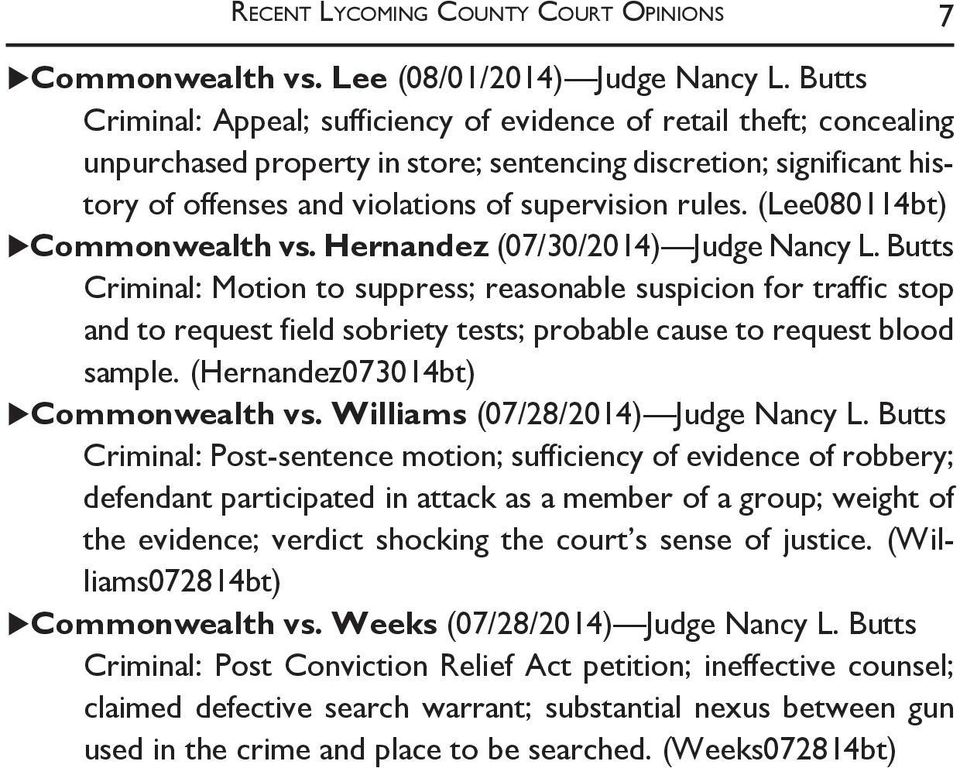 (Lee080114bt) Commonwealth vs. Hernandez (07/30/2014) Judge Nancy L.