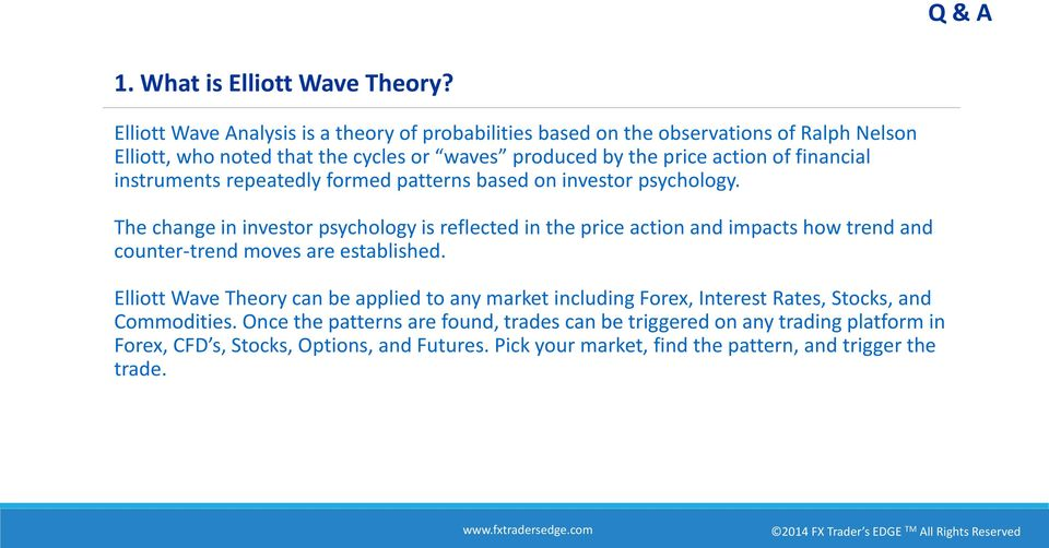 financial instruments repeatedly formed patterns based on investor psychology.