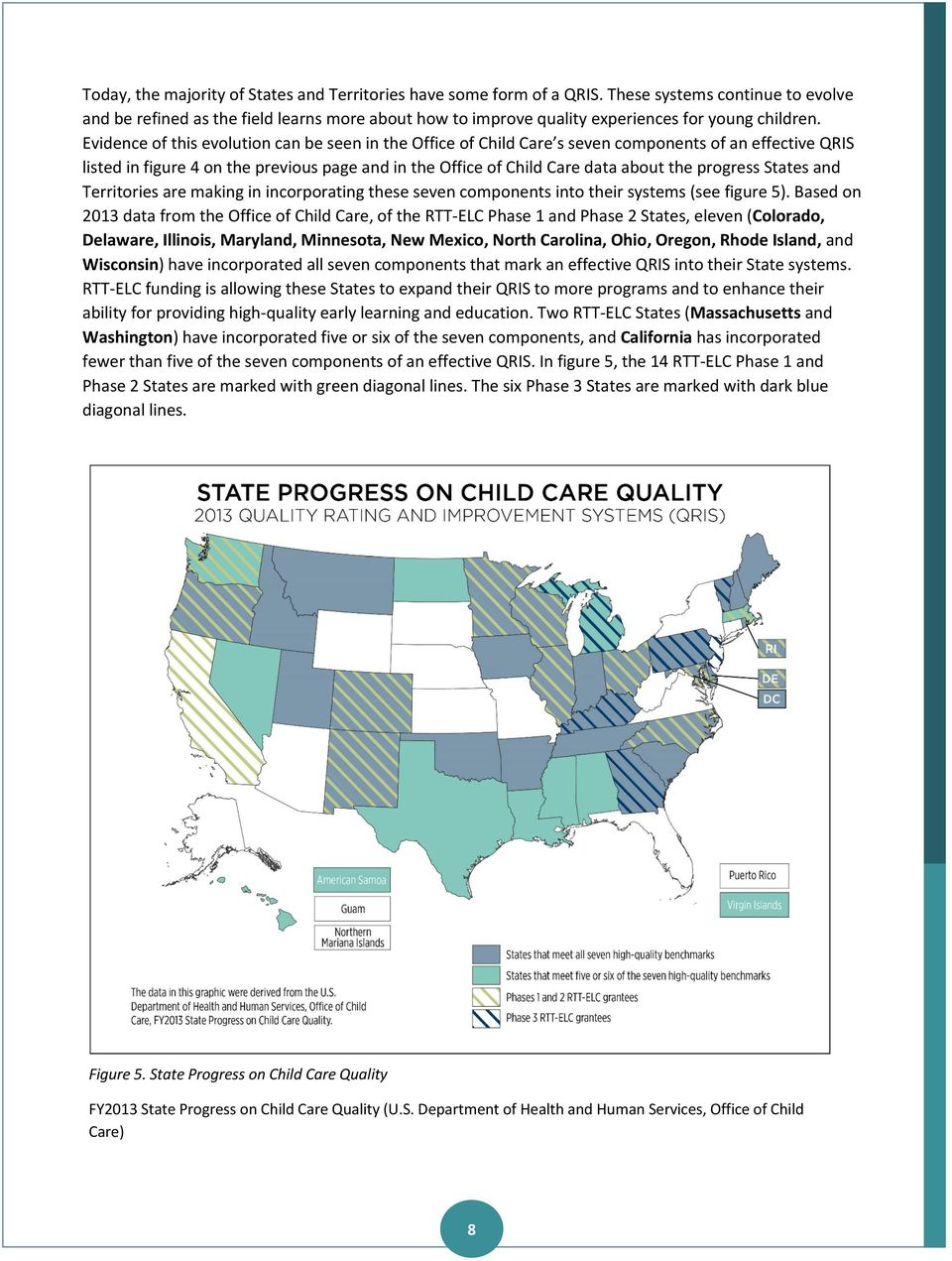 Evidence of this evolution can be seen in the Office of Child Care s seven components of an effective QRIS listed in figure 4 on the previous page and in the Office of Child Care data about the
