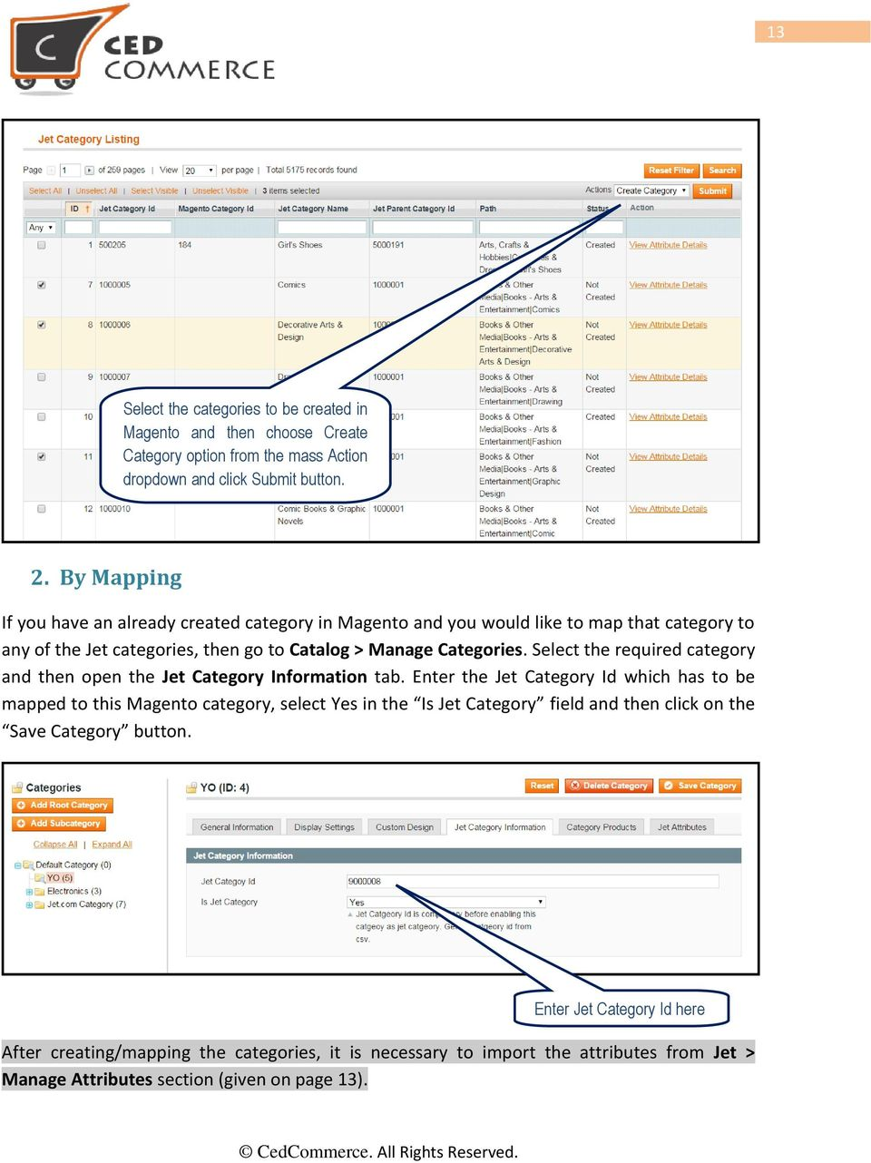Select the required category and then open the Jet Category Information tab.