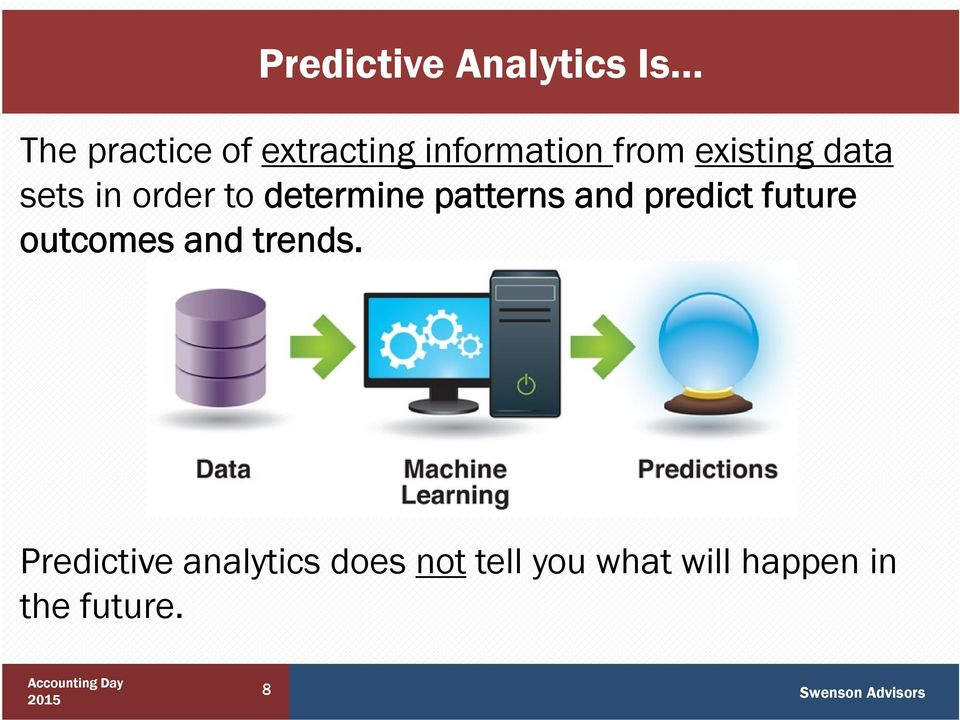 patterns and predict future outcomes and trends.