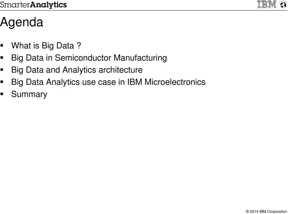 Big Data and Analytics architecture Big