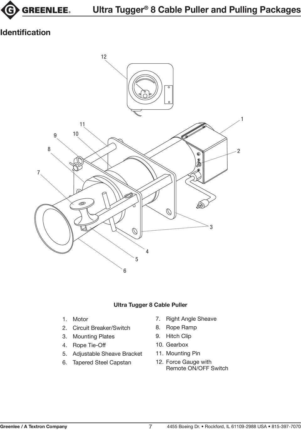Ultra Tugger 8 Cable Puller and Pulling Packages - PDF