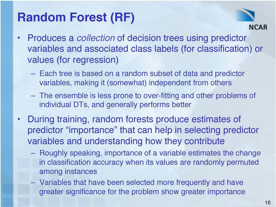 "During training, random forests produce estimates of predictor importance that can help in selecting predictor variables and understanding how they contribute"" Roughly speaking, importance of a"