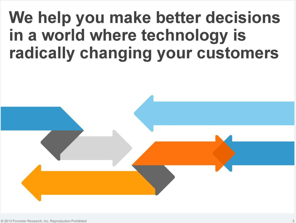 changing your customers 2013 Forrester
