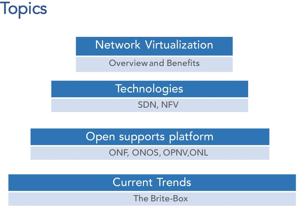 SDN, NFV Open supports platform ONF,