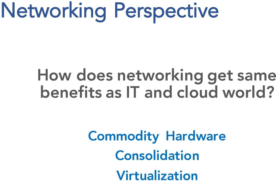 IT and cloud world?