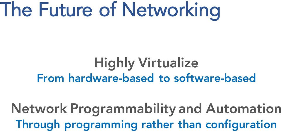 software-based Network Programmability