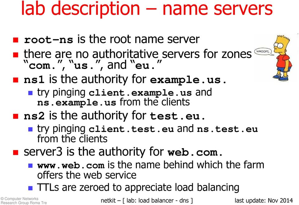 eu. try pinging client.test.eu and ns.test.eu from the clients server3 is the authority for web.