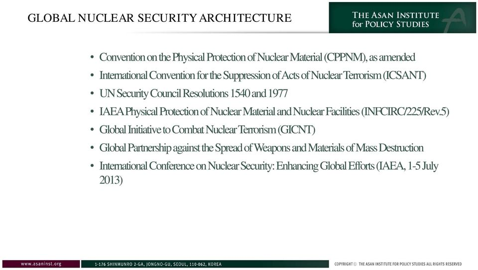 Material and Nuclear Facilities (INFCIRC/225/Rev.
