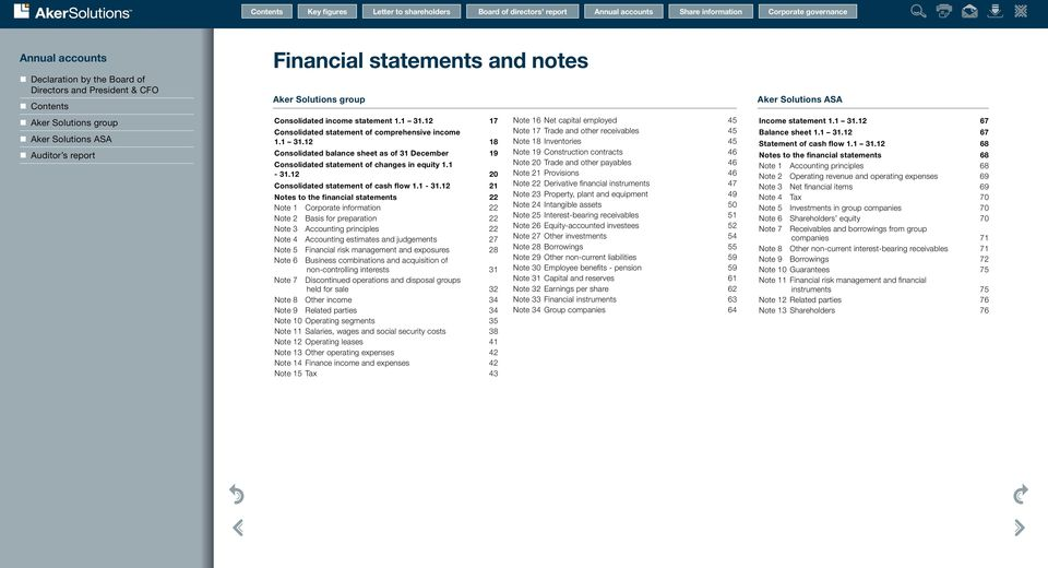 3. 0 Consolidated statement of cash flow. 3.