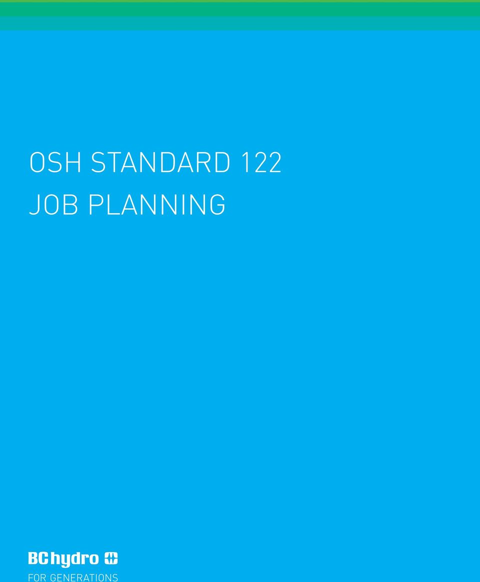 BC HYDRO S OCCUPATIONAL SAFETY & HEALTH STANDARDS - PDF