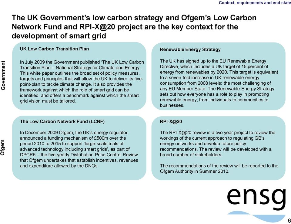 This white paper outlines the broad set of policy measures, targets and principles that will allow the UK to deliver its fivepoint-plan to tackle climate change.