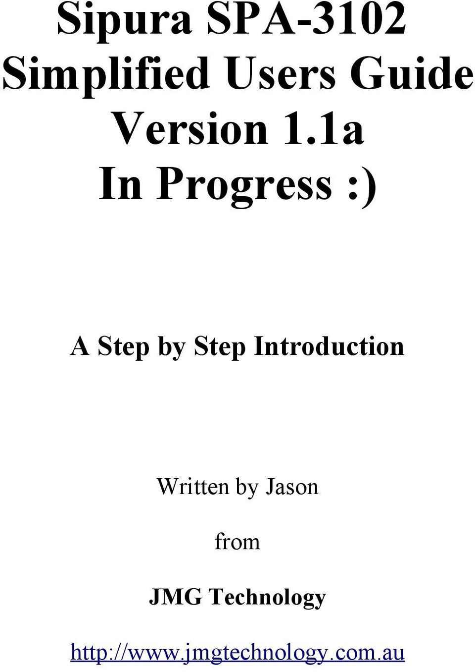 1a In Progress :) A Step by Step