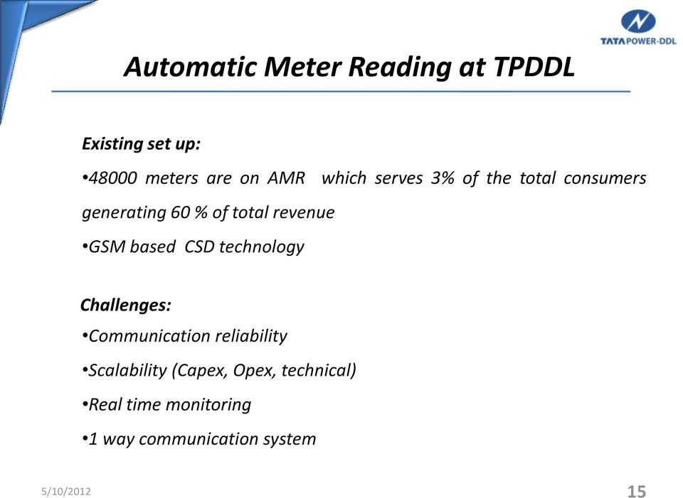 based CSD technology Challenges: Communication reliability Scalability