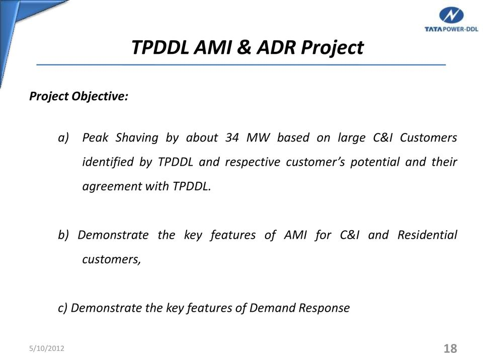 and their agreement with TPDDL.