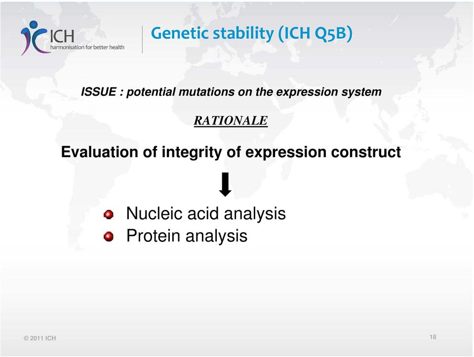 Evaluation of integrity of expression construct