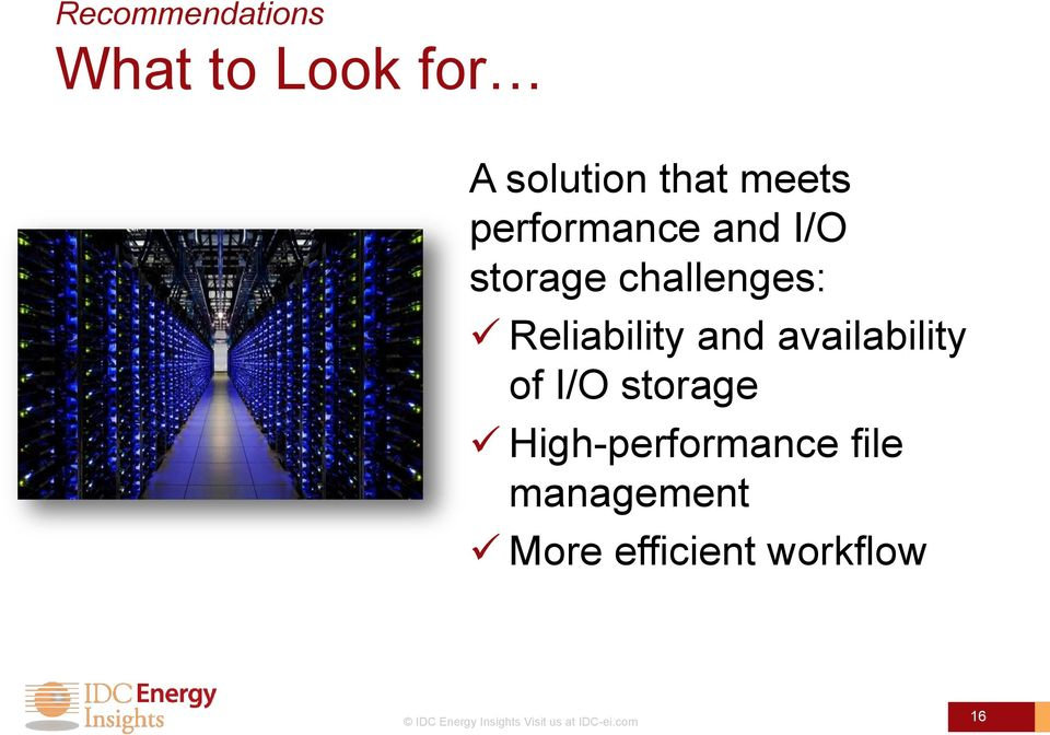 availability of I/O storage High-performance file management