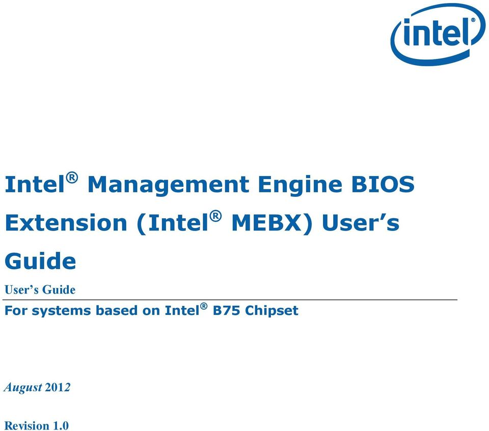 User s Guide For systems based on