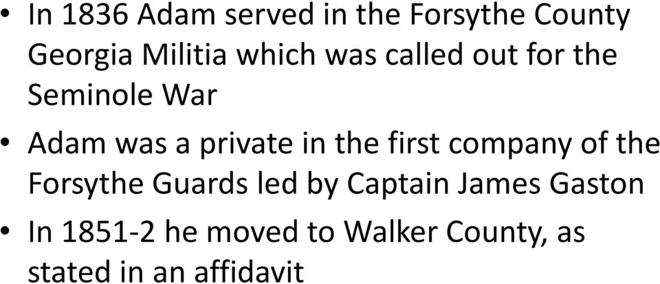 the first company of the Forsythe Guards led by Captain James
