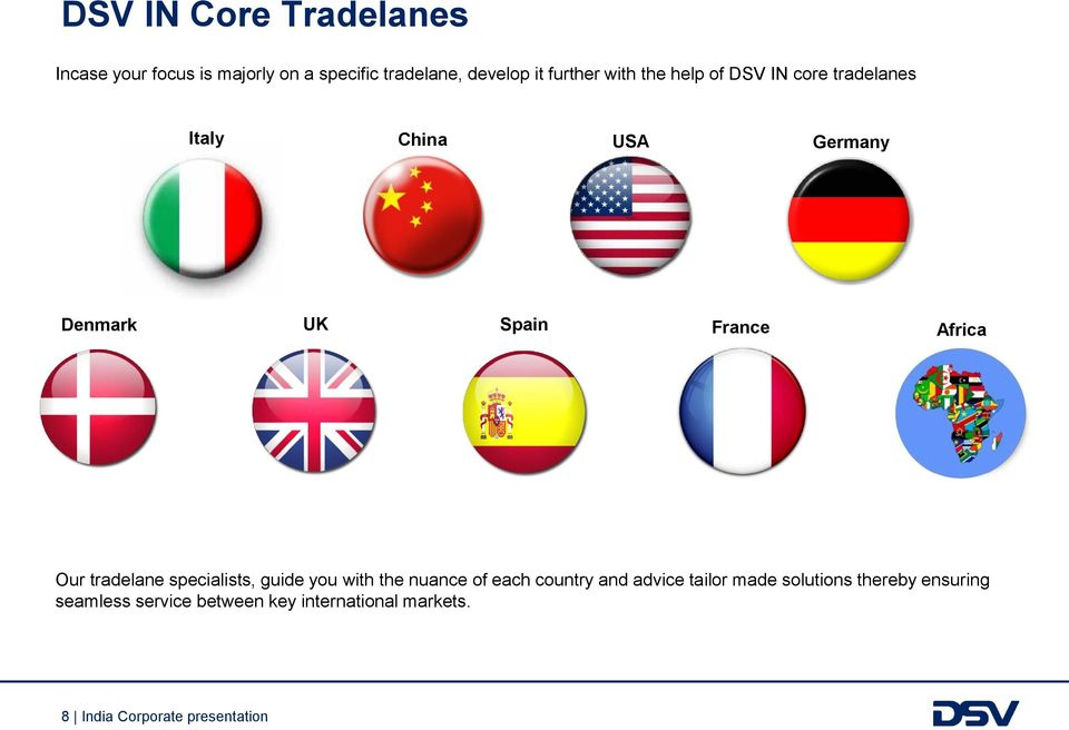 Our tradelane specialists, guide you with the nuance of each country and advice tailor made