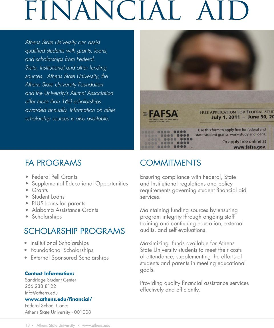 Information on other scholarship sources is also available.