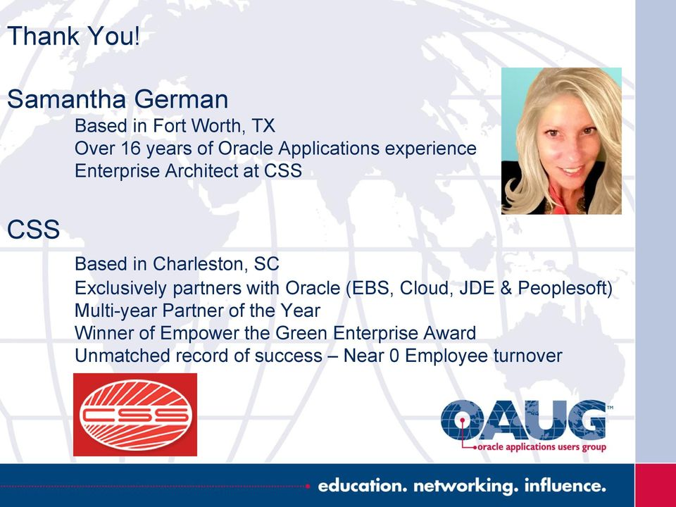 experience Enterprise Architect at CSS CSS Based in Charleston, SC Exclusively
