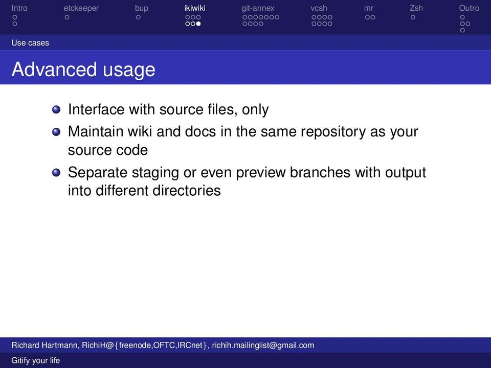 repository as your source code Separate staging or