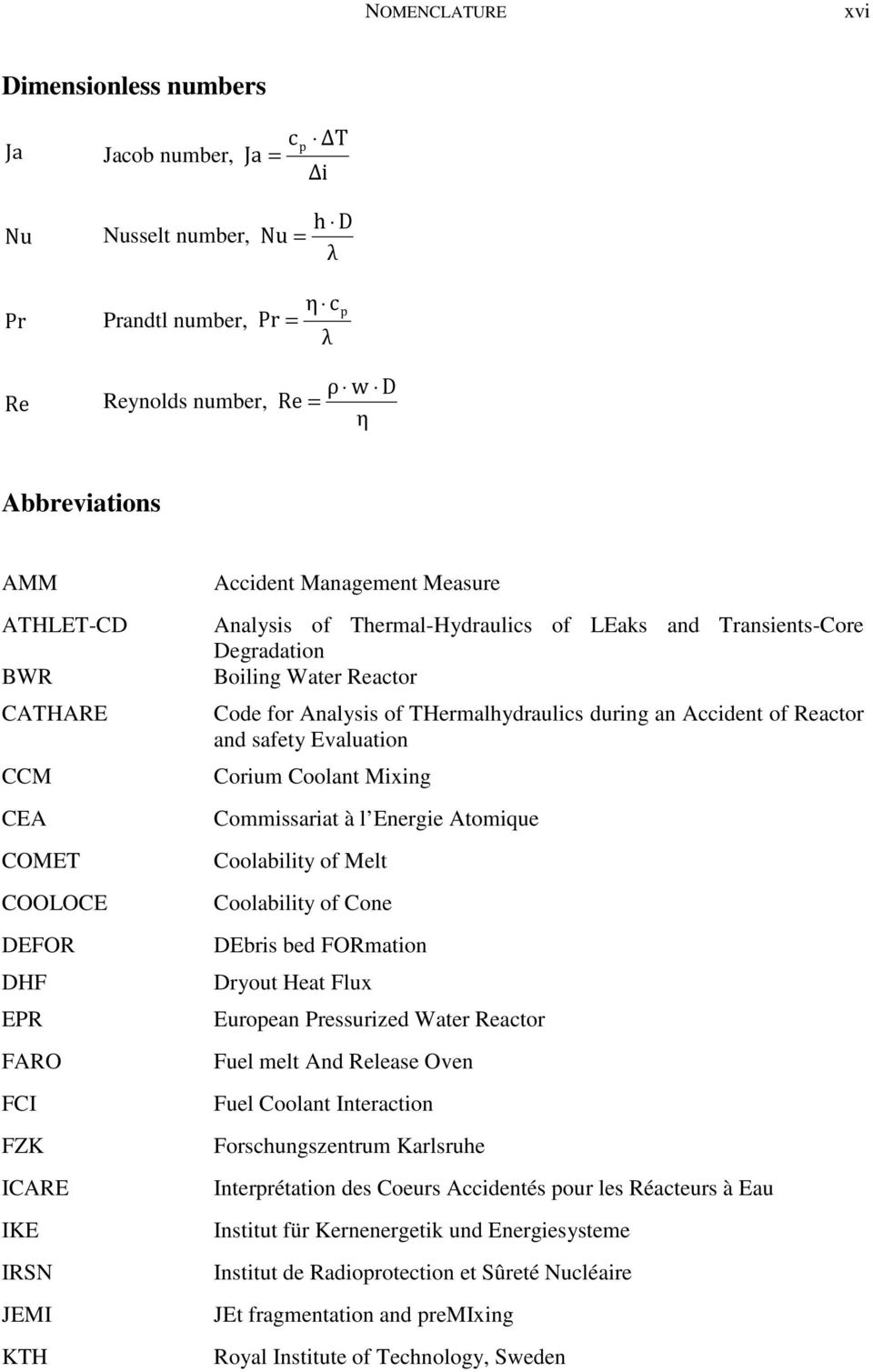 Reactor Code for Analysis of THermalhydraulics during an Accident of Reactor and safety Evaluation Corium Coolant Mixing Commissariat à l Energie Atomique Coolability of Melt Coolability of Cone