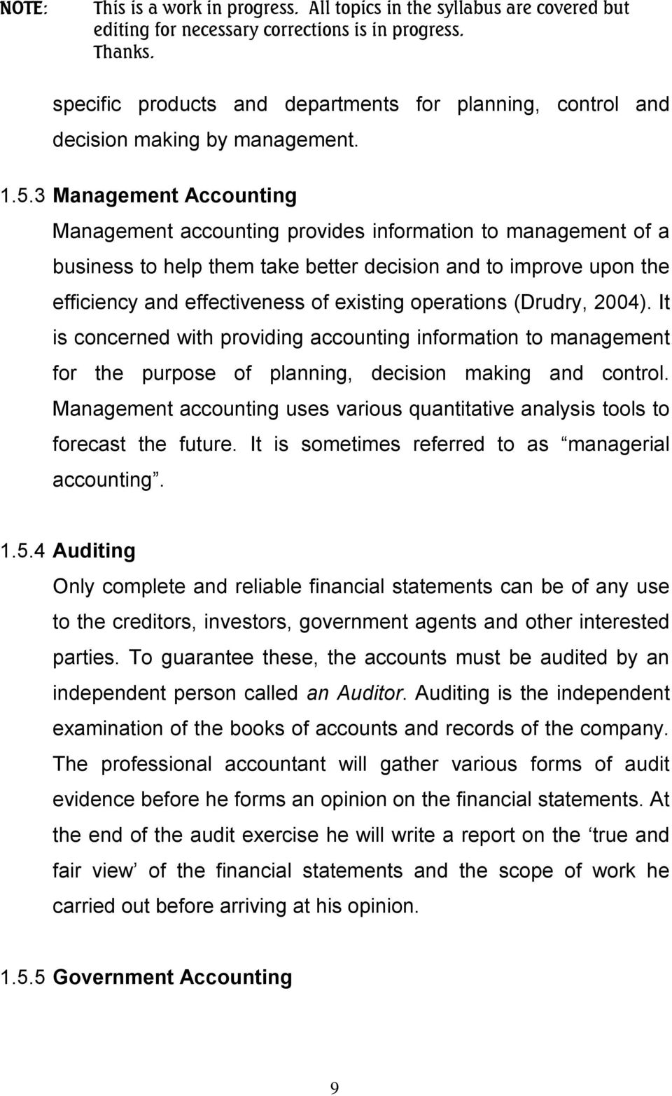 ACCOUNTING TECHNICIANS SCHEME (WEST AFRICA) BASIC ACCOUNTING