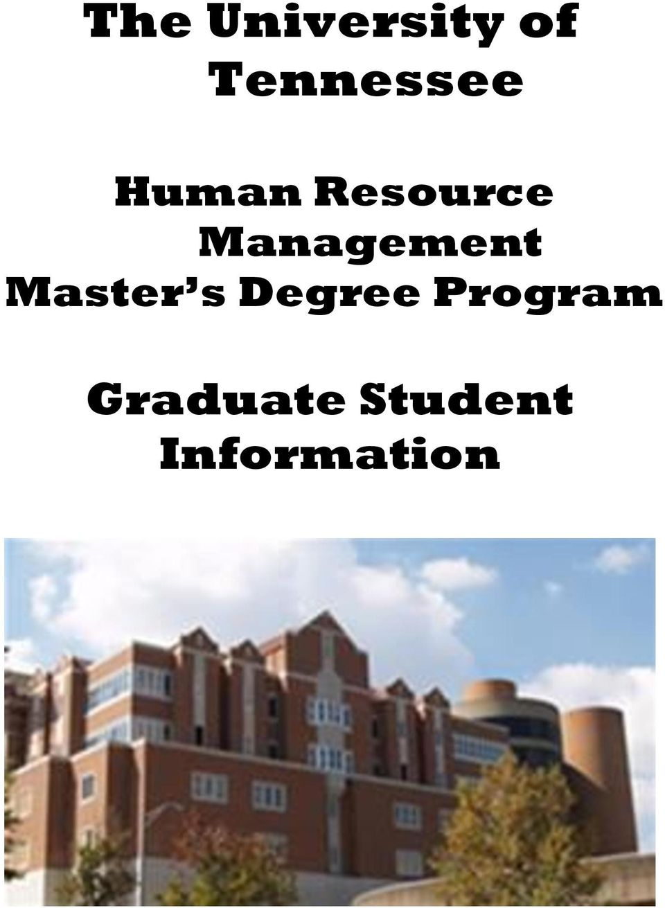 Management Master s Degree