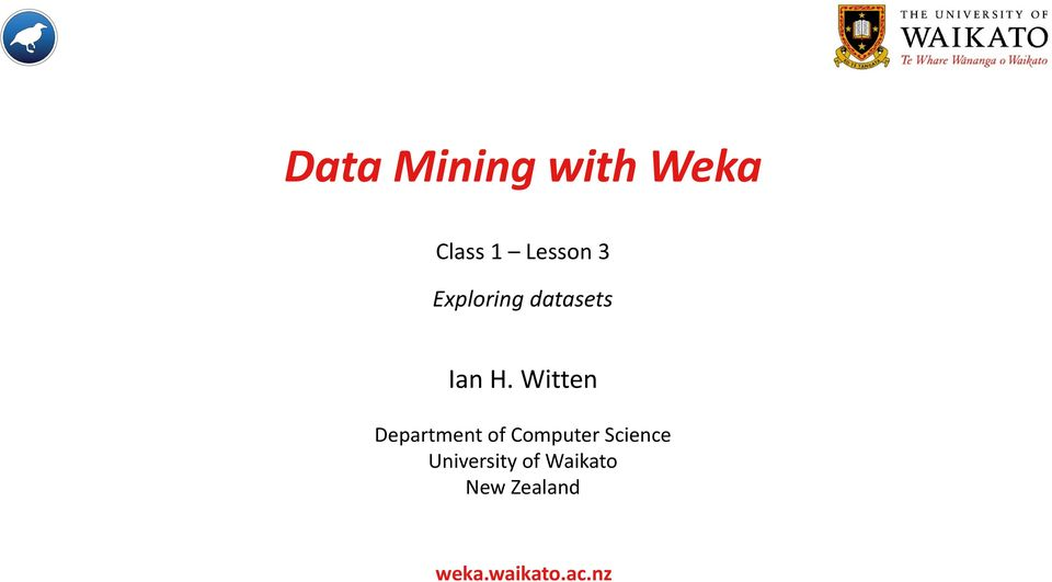 Witten Department of Computer Science