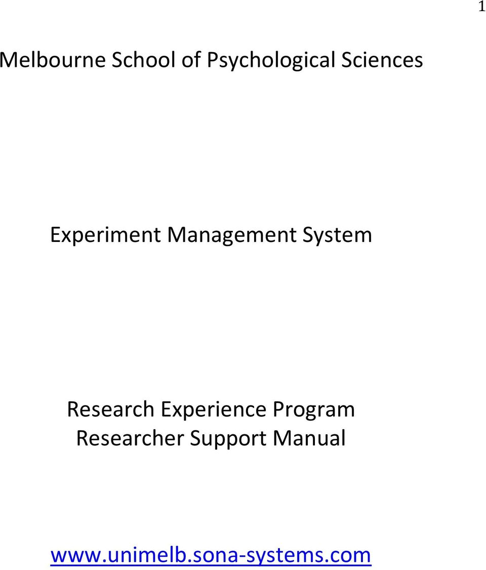 Research Experience Program Researcher