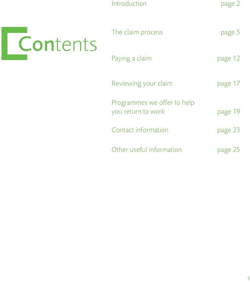 Programmes we offer to help you return to work page 19