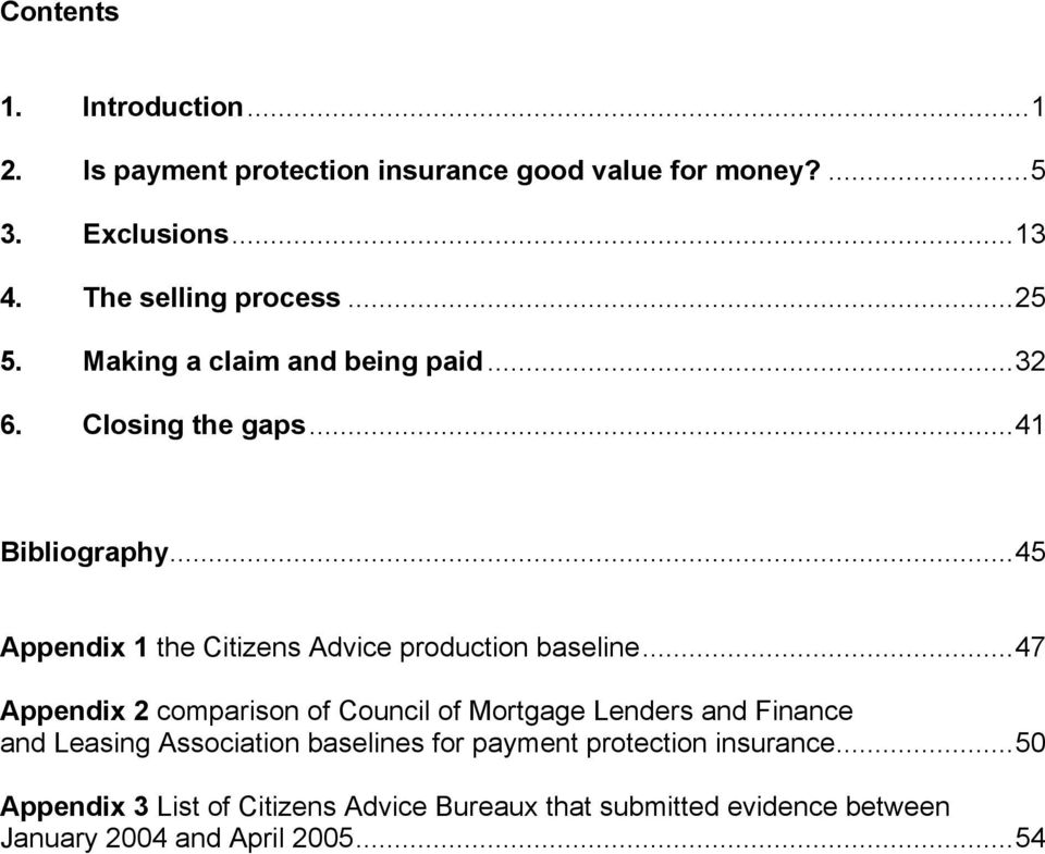 ..45 Appendix 1 the Citizens Advice production baseline.