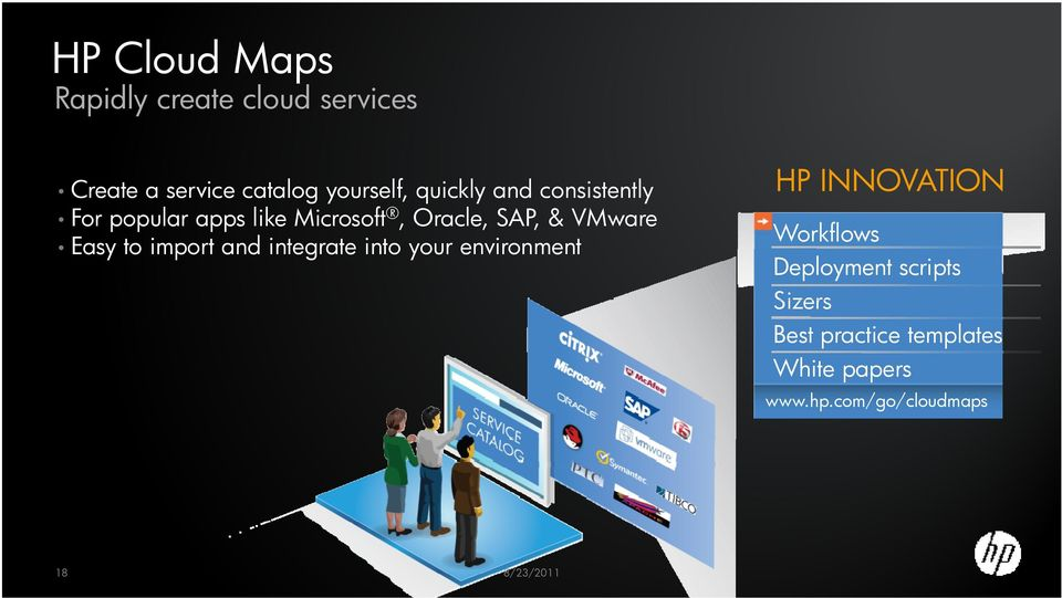 VMware Easy to import and integrate into your environment HP INNOVATION Workflows