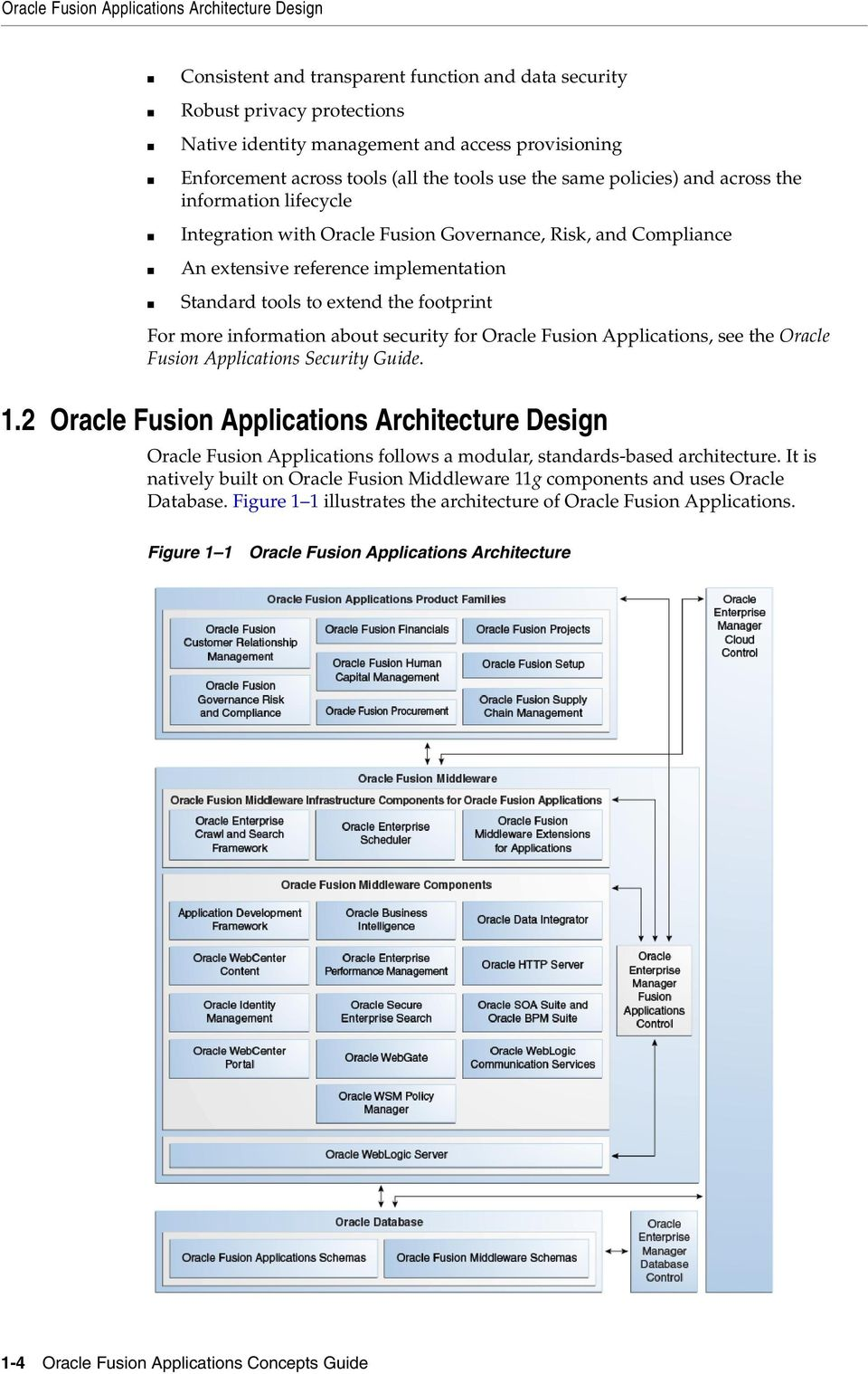 to extend the footprint For more information about security for Oracle Fusion Applications, see the Oracle Fusion Applications Security Guide. 1.