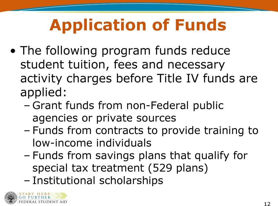 agencies or private sources Funds from contracts to provide training to low-income individuals