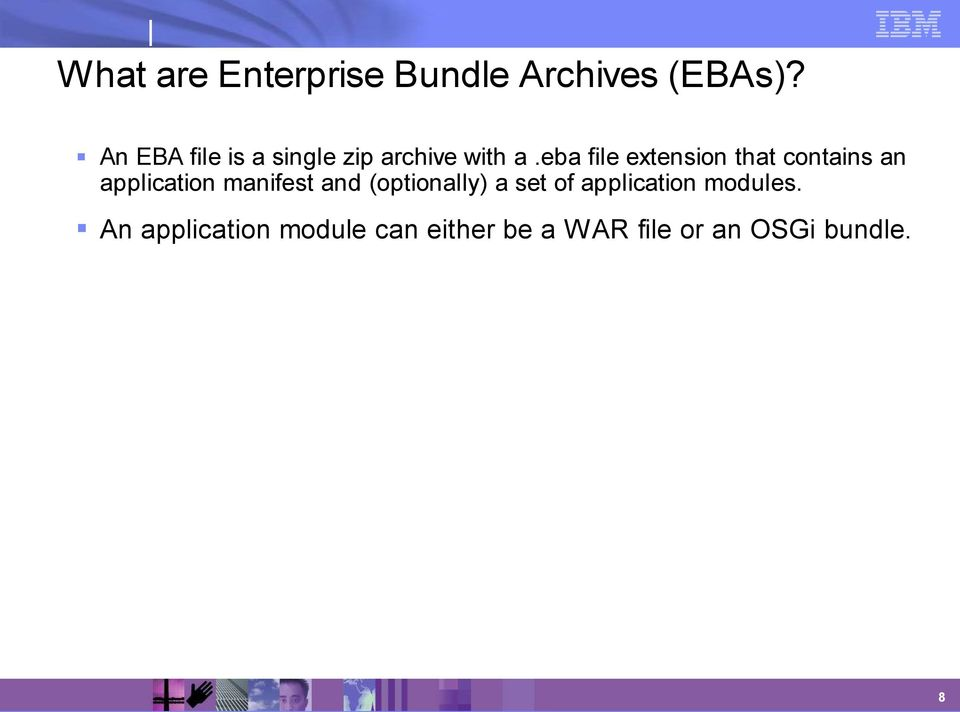 eba file extension that contains an application manifest and