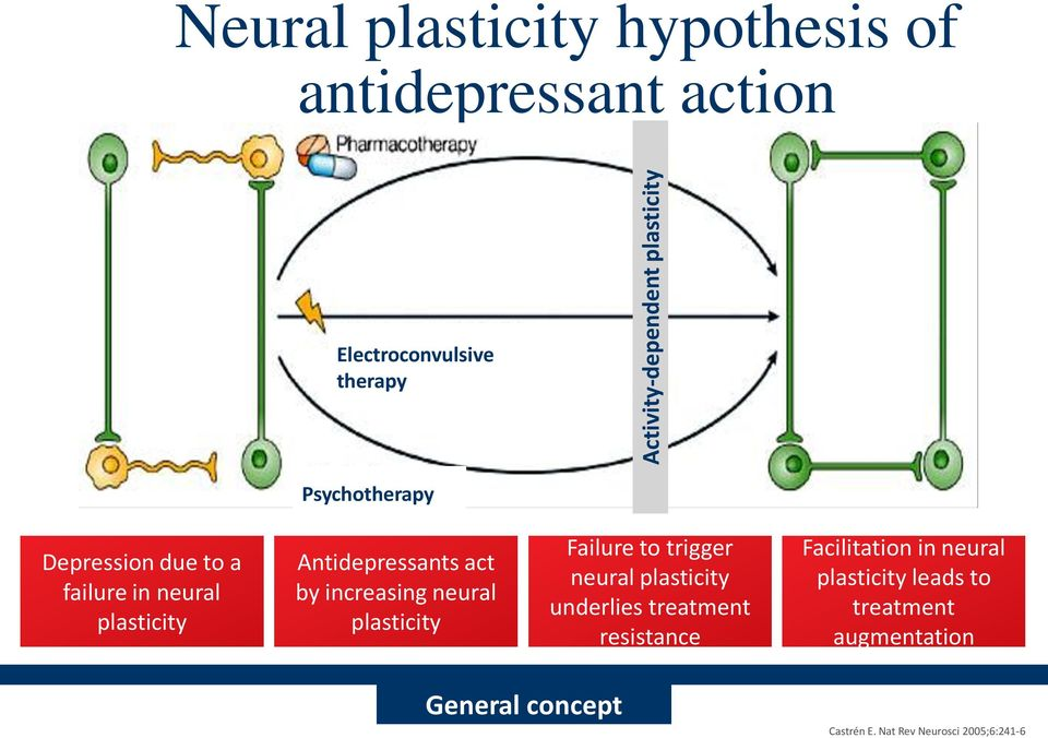 increasing neural plasticity Failure to trigger neural plasticity underlies treatment resistance