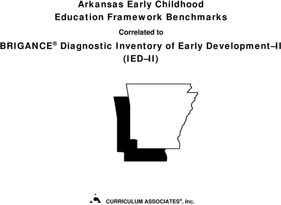Diagnostic Inventory of Early