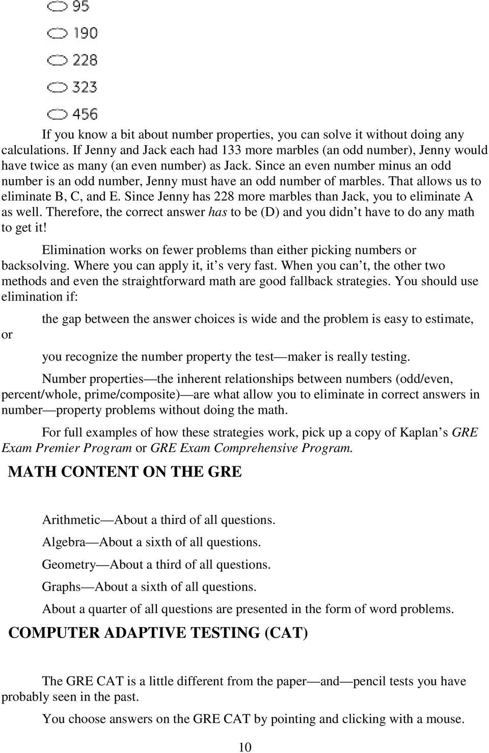 Gre exam math workbook seventh edition pdf since an even number minus an odd number is an odd number jenny must have fandeluxe Gallery