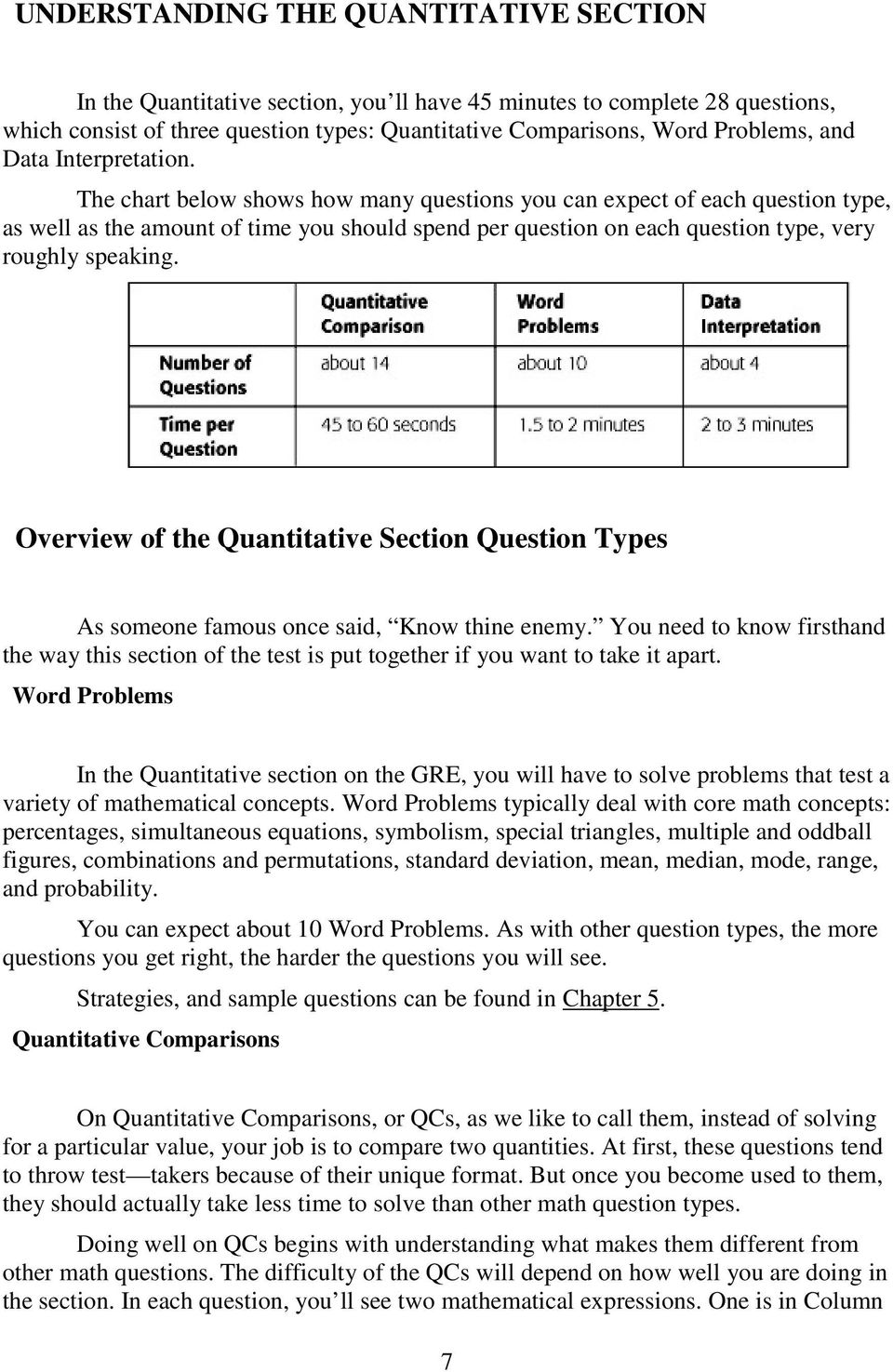 Gre exam math workbook seventh edition pdf the chart below shows how many questions you can expect of each question type as fandeluxe Gallery