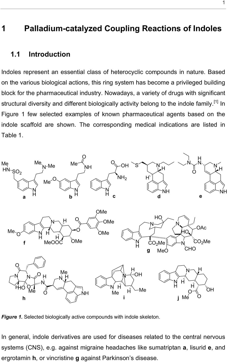 owadays, a variety of drugs with significant structural diversity and different biologically activity belong to the indole family.
