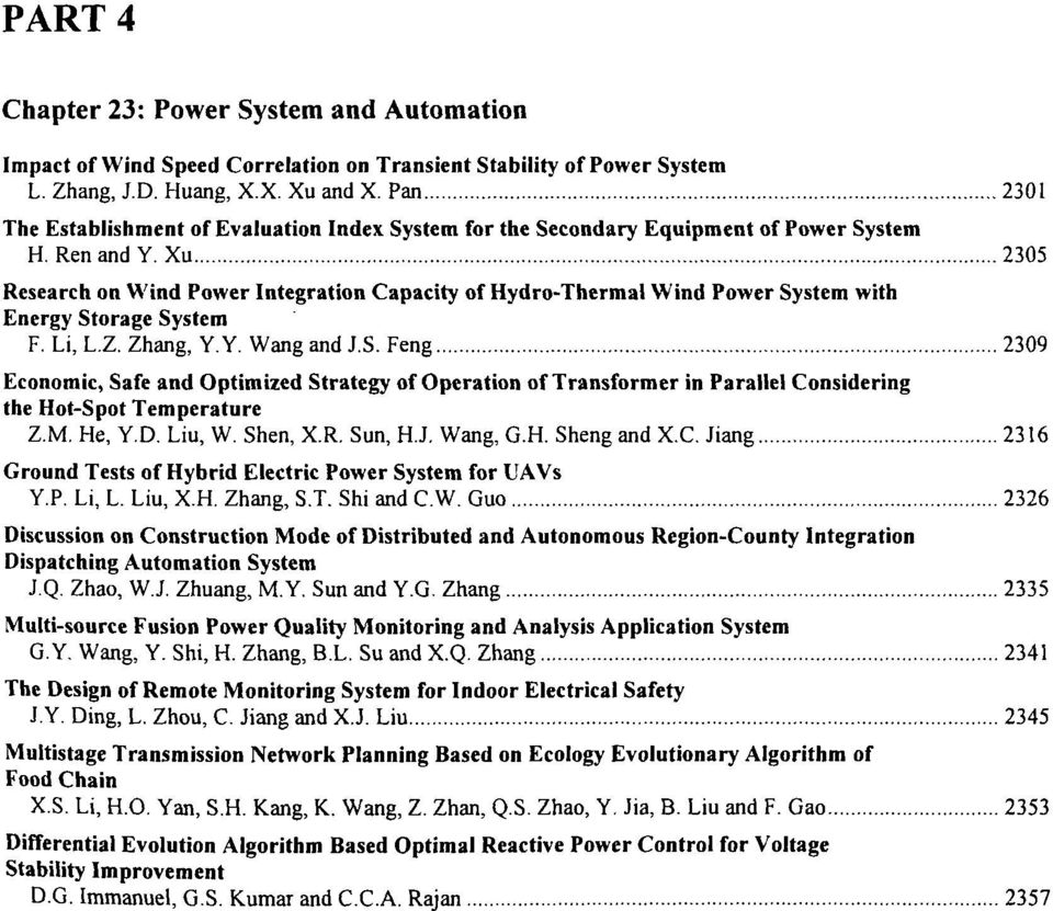 Xu 2305 Research on Wind Power Integration Capacity of Hydro-Thermal Wind Power System with Energy Storage System F. Li, I. /.. Zhang. Y.Y Wang and IS.
