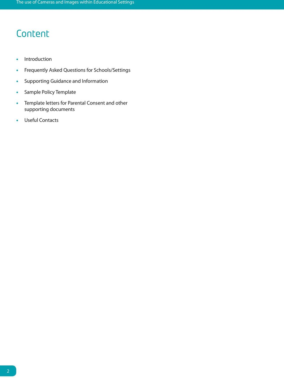 Supporting Guidance and Information Sample Policy Template Template
